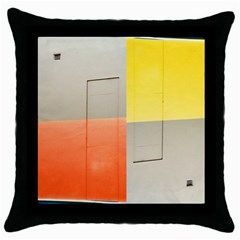 Geometry Black Throw Pillow Case by artposters