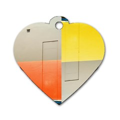 Geometry Twin Sided Dog Tag (heart) by artposters