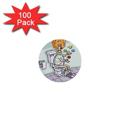 Multitasking Clown 100 Pack Mini Button (round) by mikestoons