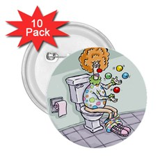 Multitasking Clown 10 Pack Regular Button (round) by mikestoons