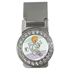 Multitasking Clown Money Clip With Gemstones (round) by mikestoons