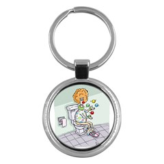 Multitasking Clown Key Chain (round) by mikestoons