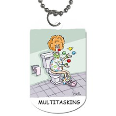 Multitasking Clown Twin Sided Dog Tag by mikestoons