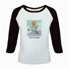 Multitasking Clown Long Sleeve Raglan Womens'' T Shirt by mikestoons