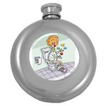 Multitasking Clown Hip Flask (Round) Front