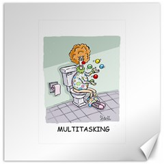 Multitasking Clown 12  X 12  Unframed Canvas Print by mikestoons