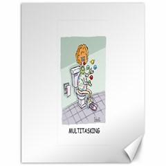 Multitasking Clown 12  X 16  Unframed Canvas Print by mikestoons