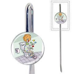 Multitasking Clown Bookmark by mikestoons