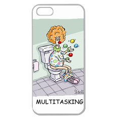 Multitasking Clown Apple Seamless Iphone 5 Case (clear) by mikestoons