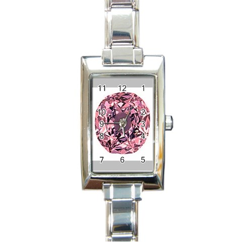 Almost Diamond 2 By Riksu   Rectangle Italian Charm Watch   Ght7nhhwuht2   Www Artscow Com Front
