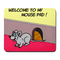 Welcome To My Mouse Pad Large Mouse Pad (rectangle) by ColemantoonsFunnyStore