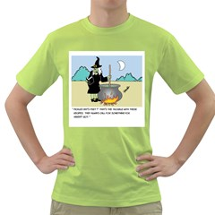 Witch s Recipe Green Mens  T Shirt by ColemantoonsFunnyStore