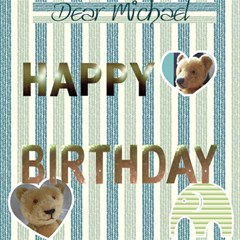 3d Birthday Card  (boy) With Your Photo , Messages   And   Teddy Bears By Riksu   Happy Birthday 3d Greeting Card (8x4)   Dozqkgoy6w7b   Www Artscow Com Inside