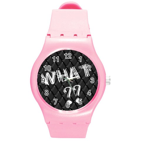 What  Watch By Riksu   Round Plastic Sport Watch (m)   8coaa1j301v4   Www Artscow Com Front