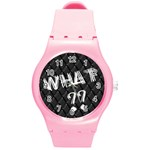 what -watch - Round Plastic Sport Watch Medium