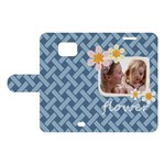 flower kids - Samsung Galaxy S2 Woven Pattern Leather Folio Case