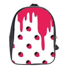 Melting Strawberry Large School Backpack