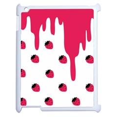 Melting Strawberry Apple Ipad 2 Case (white) by strawberrymilk