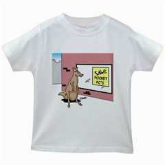 Kangaroo Shopping For Pocket PCs White Kids'' T-shirt by ColemantoonsFunnyStore