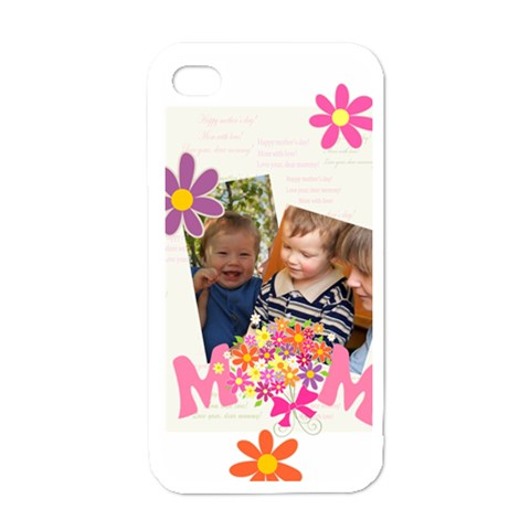 Mothers Day By Divad Brown   Apple Iphone 4 Case (white)   Ii10pmnpy0lu   Www Artscow Com Front