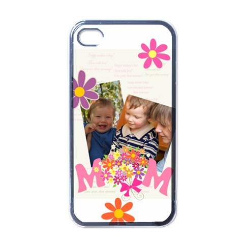 Mothers Day By Divad Brown   Apple Iphone 4 Case (black)   83r6nxdnj6f1   Www Artscow Com Front
