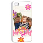 mothers day - Apple iPhone 4/4s Seamless Case (White)