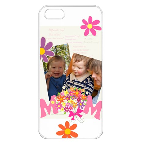 Mothers Day By Divad Brown   Apple Iphone 5 Seamless Case (white)   V1zc9dyu21yb   Www Artscow Com Front