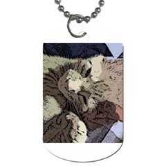 Cat Cartoonizer 2 Single Sided Dog Tag