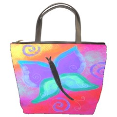 Abstract Butterfly Small Handbag