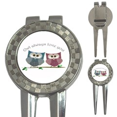 Owl Always Love You, Cute Owls Golf Pitchfork & Ball Marker by DigitalArtDesgins
