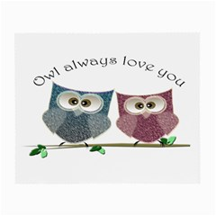 Owl Always Love You, Cute Owls Glasses Cleaning Cloth by DigitalArtDesgins