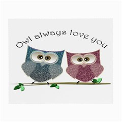 Owl always love you, cute Owls Twin-sided Glasses Cleaning Cloth by DigitalArtDesgins