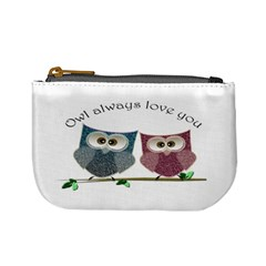 Owl Always Love You, Cute Owls Coin Change Purse