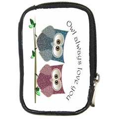 Owl Always Love You, Cute Owls Digital Camera Case by DigitalArtDesgins