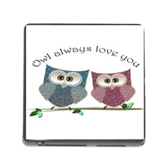 Owl Always Love You, Cute Owls Card Reader With Storage (square)