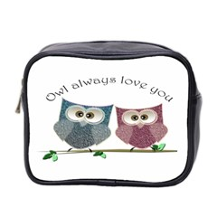 Owl Always Love You, Cute Owls Twin Sided Cosmetic Case by DigitalArtDesgins