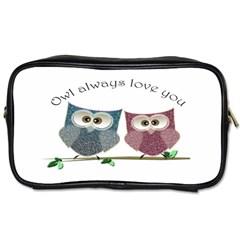 Owl Always Love You, Cute Owls Single Sided Personal Care Bag by DigitalArtDesgins