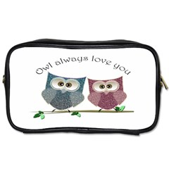 Owl Always Love You, Cute Owls Twin Sided Personal Care Bag by DigitalArtDesgins
