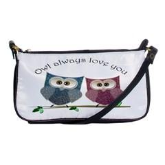 Owl Always Love You, Cute Owls Evening Bag by DigitalArtDesgins