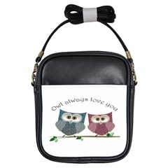 Owl Always Love You, Cute Owls Kids  Sling Bag by DigitalArtDesgins