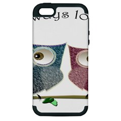 Owl Always Love You, Cute Owls Apple Iphone 5 Hardshell Case (pc+silicone) by DigitalArtDesgins