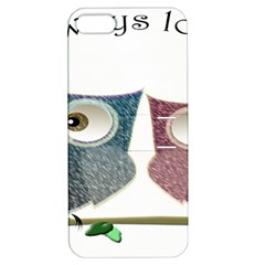 Owl Always Love You, Cute Owls Apple Iphone 5 Hardshell Case With Stand by DigitalArtDesgins