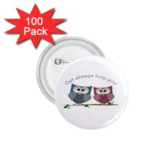 Owl Always Love You, Cute Owls 100 Pack Small Button (round) by DigitalArtDesgins