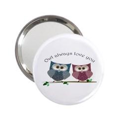 Owl Always Love You, Cute Owls Handbag Mirror