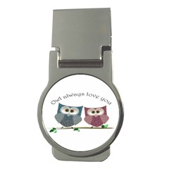 Owl Always Love You, Cute Owls Money Clip (round) by DigitalArtDesgins