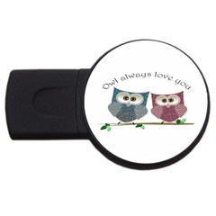 Owl Always Love You, Cute Owls 2gb Usb Flash Drive (round) by DigitalArtDesgins