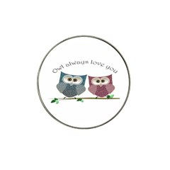 Owl Always Love You, Cute Owls 10 Pack Golf Ball Marker (for Hat Clip) by DigitalArtDesgins