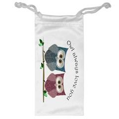 Owl Always Love You, Cute Owls Glasses Pouch by DigitalArtDesgins