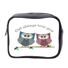 Owl Always Love You, Cute Owls Twin Sided Cosmetic Case