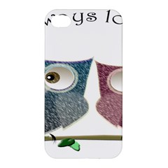 Owl Always Love You, Cute Owls Apple Iphone 4/4s Premium Hardshell Case by DigitalArtDesgins
